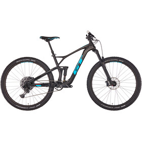 GT Bicycles Sensor Carbon Elite, satin raw/gloss aqua blue/red